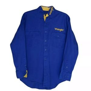 Vintage Wrangler Embroidered Spellout Shirt Size S